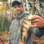 man with perch